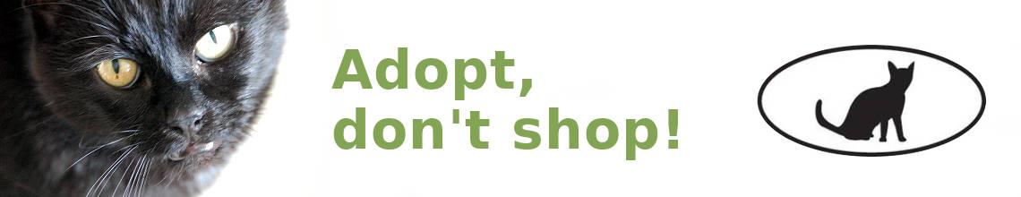 Adopteer een dier in plaats van shoppen